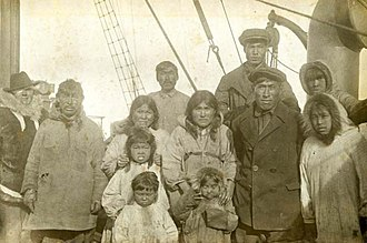 Wrangel Island - Wrangel Island Inhabitants on board Krasnyy Oktyabr 1924