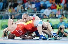 Wrestling at the 2016 Summer Olympics, Gazyumov vs Andriitsev 6.jpg