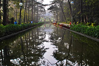 The Mansion (Baguio) - Image: Wright Park in front of the Mansion House, Baguio City