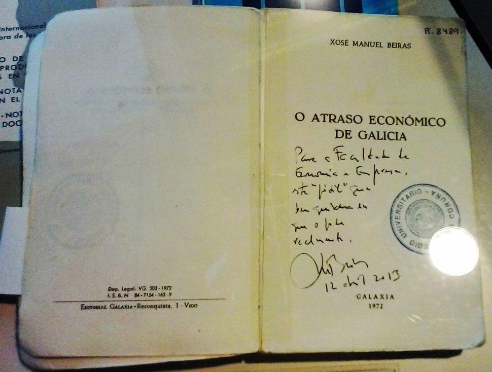 Xosé Manuel Beiras O atraso económico de Galicia