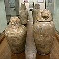Xxvi dinastia, vasi canopi del generale psametik-em-akher, in alabastro.jpg