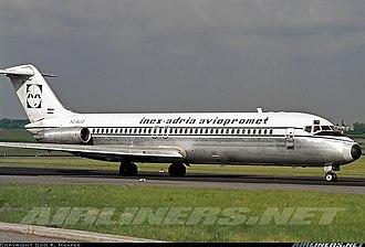 Inex-Adria Aviopromet Flight 450 - Image: YU AJO