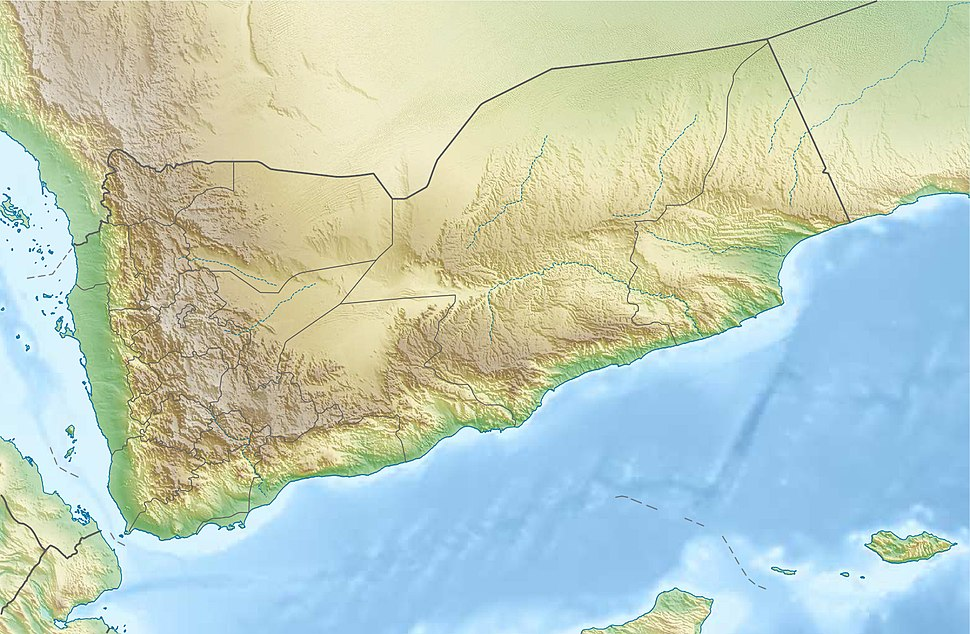 Yemen relief location map
