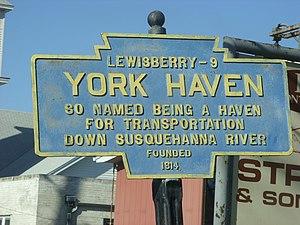 York Haven, Pennsylvania - Image: York Haven, PA Keystone Marker