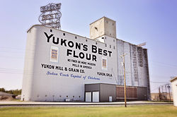 Yukon's Best Flour mill, located on U.S. Route 66