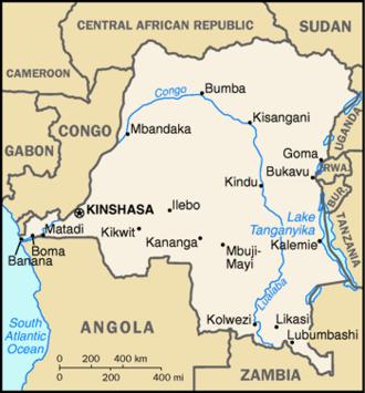 First Congo War - Image: Zaire 96map