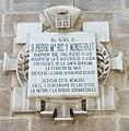 Zaragoza - Placa dedicada a Pedro María Ric y Monserrat.jpg