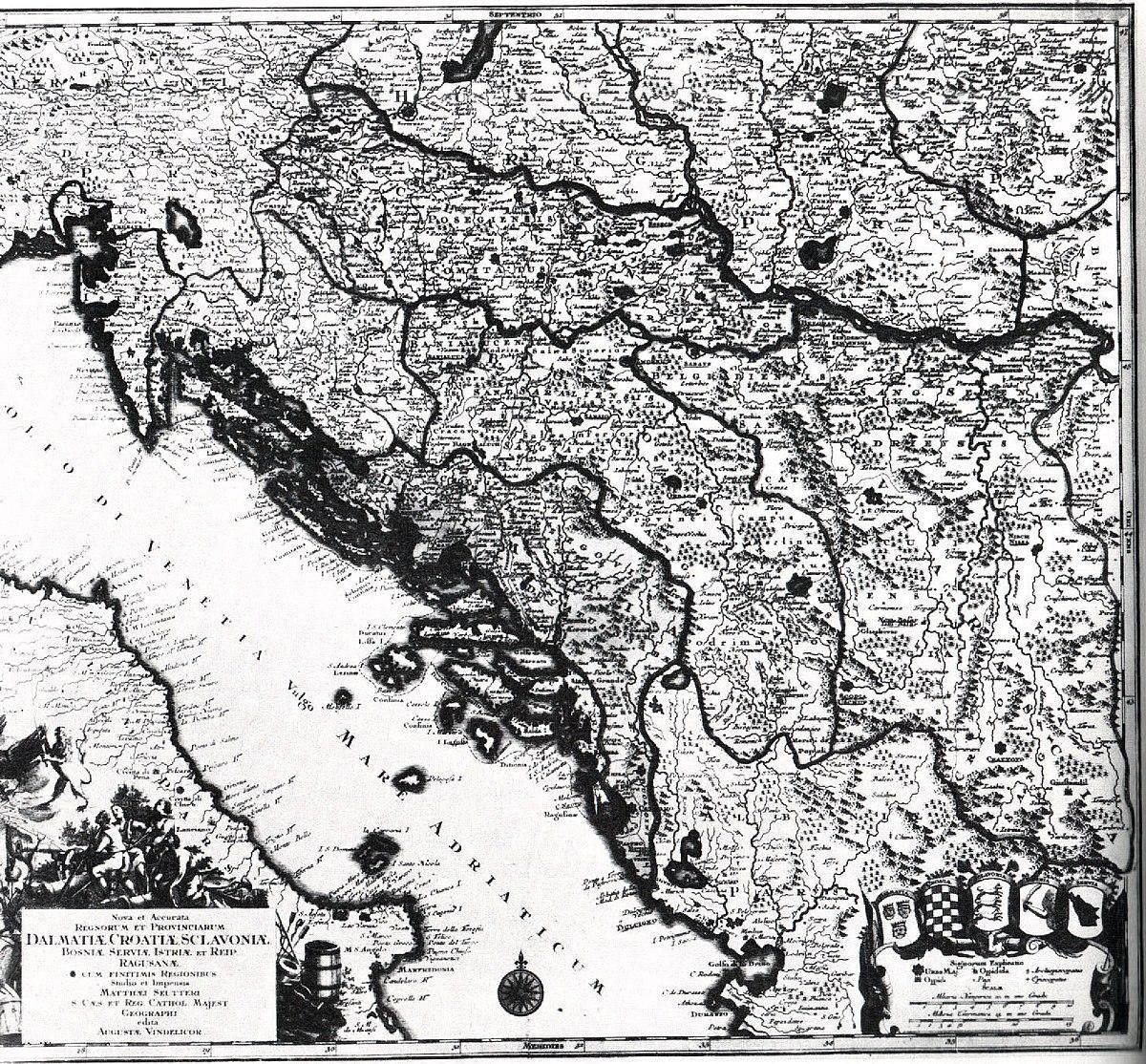 File Zemljopisna Karta Dalmacije Hrvatske Slovenije Bosne