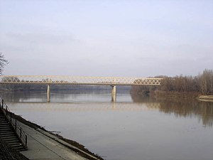 Senta - The bridge across Tisa River in Senta