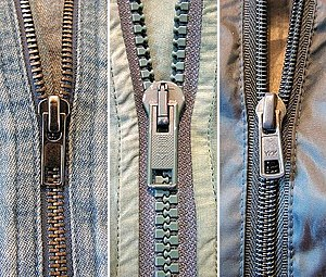 Timeline of United States inventions (1890–1945) - Three zippers: Metal, plastic, and nylon