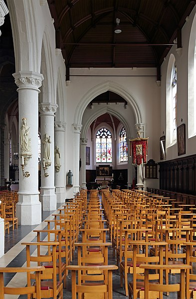 Zomergem (province of East Flanders, Belgium): interior of St Martin's church