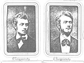 Emil Zsigmondy - The brothers Otto (left) and Emil Zsigmondy in 1880