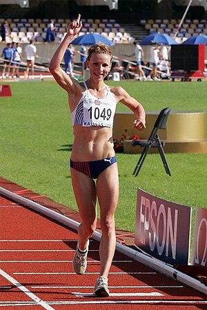 Zuzana Schindlerová - Image: Zuzka winning at ME 23 Kaunas