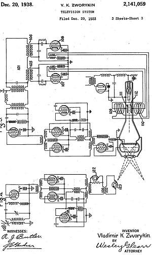 Vladimir K. Zworykin - Image: Zworykin patent (1923)