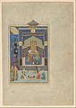 """Bahram Gur in the Turquoise Palace on Wednesday"", Folio 216 from a Khamsa (Quintet) of Nizami MET DP152804.jpg"