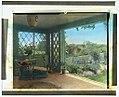 """Gray Gardens,"" Robert Carmer Hill house, Lily Pond Lane, East Hampton, New York. Sun-room overlooking walled garden LCCN2008680030.jpg"