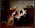 """The physician's verdict"". Oil painting by Emile Carolus Lec Wellcome L0022455.jpg"