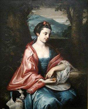 John Penn (governor) - Anne Allen (1763), by Benjamin West, Cincinnati Art Museum.