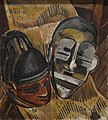 'Negro Masks' by Malvin Gray Johnson, 1932, Hampton University Museum, 67.281.JPG