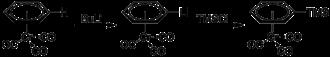 (Benzene)chromium tricarbonyl - Image: (Benzene)chromiumtri carbonyl lithiation TMS
