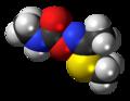 (Z)-Methomyl molecule spacefill.png