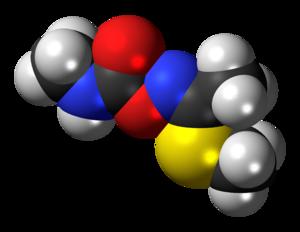 Methomyl - Image: (Z) Methomyl molecule spacefill