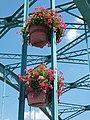 Árpád Bridge, flower pots, 2018 Ráckeve.jpg