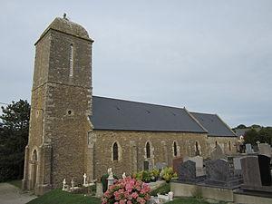 Baubigny, Manche - The church of Saint-Martin