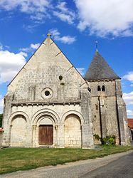 The church of Saint-Martin, in Montlouis