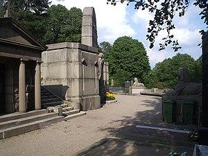 Östra kyrkogården, Gothenburg - One of the mausoleums at Östra kyrkogården.