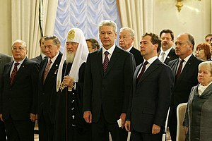 Mayor of Moscow - Sobyanin in his inaugural ceremony, in the Residence of the Mayor of Moscow. October 2010