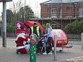 -2019-12-07 Santa claus and his sleigh, Yarmouth Road, Norfolk.JPG