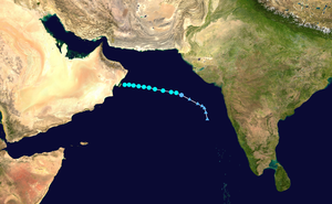 1977 North Indian Ocean cyclone season - Image: 02A 1977 track