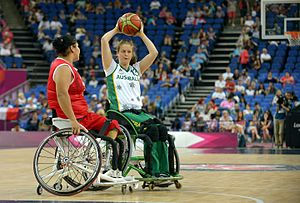 Sarah Stewart (basketball) - Stewart at the 2012 London Paralympics