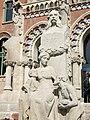 046 Hospital de Sant Pau, monument a Pau Gil, d'Eusebi Arnau.JPG