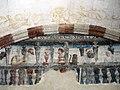 090 Sant Jeroni de la Murtra, refetor, pintura mural de Carles I.JPG