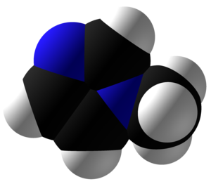 1-Methylimidazole - Image: 1 Methylimidazole Space Fill