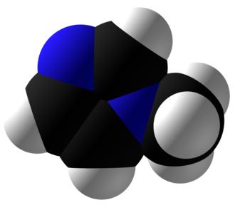 1-Methylimidazole - Image: 1 Methylimidazole Space Fill
