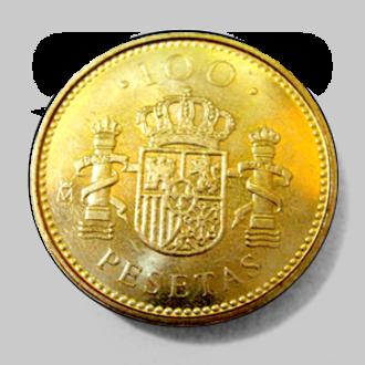 Spanish peseta - Image: 100 pesetas