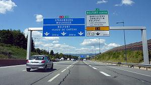 A36 autoroute - A36 near Belfort