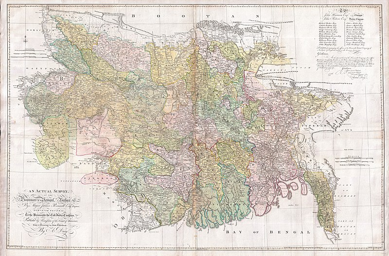 File:1776 Rennell - Dury Wall Map of Bihar and Bengal, India - Geographicus - BaharBengal-dury-1776.jpg