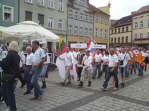 European Gliding Championships 2013 - 17th European Gliding Championships, Ostrów Wielkopolski, opening ceremony parade.