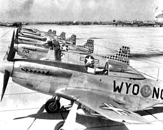 187th Airlift Squadron - F-51 Mustangs at Cheyenne Municipal Airport