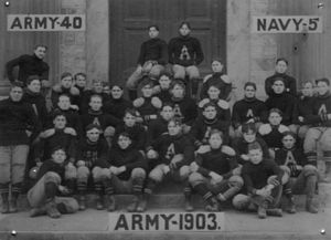 1903 Army Cadets football team - Image: 1903 Army Football Team Horatio B. Hackett front and center