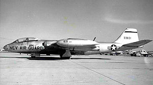 192d Airlift Squadron - 192d TRS RB-57C 53-3831, about 1964