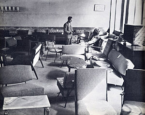 Mohammad Qayoumi - Image: 1950s Afghanistan Furniture display room