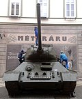 1956-os forradalom évfordulójára felállított tank Kaposváron.jpg