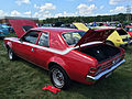 1971 AMC Hornet SC-360 compact muscle car in red at AMO 2015 meet 3of5.jpg