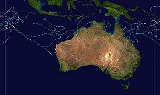 1996–97 Australian region cyclone season - Image: 1996 1997 Australian cyclone season summary
