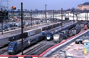 30th Street Station - A collection of equipment at Race Street in 2000